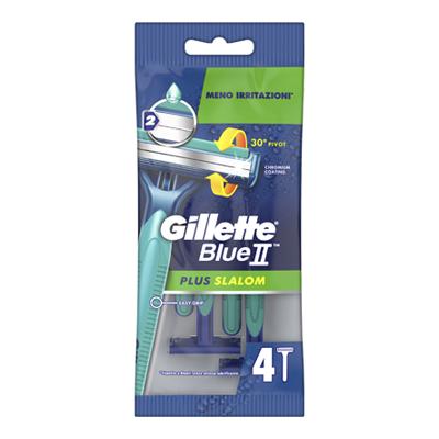GILLETTE RASOIO BLUE II PLUS SLALOM X 4 U&G