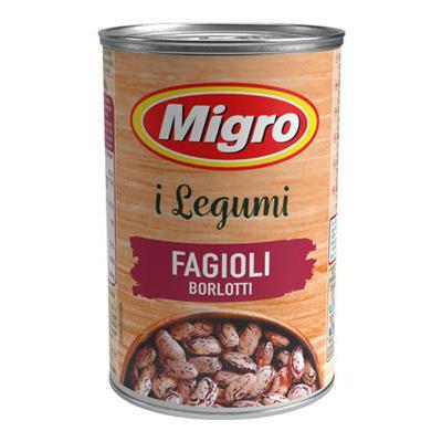 MIGRO FAGIOLI BORLOTTI GR.400