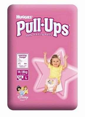 HUGGIES PULL-UPS GIRL LARGE PZ.14/12