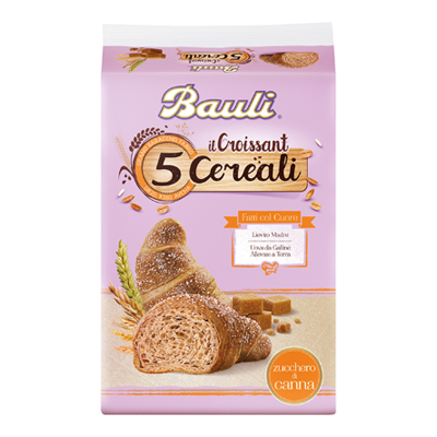 BAULI CROISSANT 5 CEREALI ZUCCHERO CANNA X6 GR.240