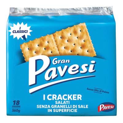 GRAN PAVESI CRACKERS GR.560 NON SALATI