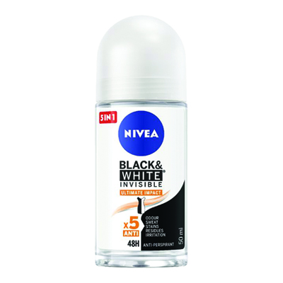 NIVEA DEO 50 ROLL ON BLACK&WHITE INVISIBLE ULTIMATE IMPACT 8