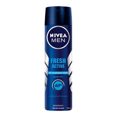 NIVEA DEO SPRAY ML.150 FRESH ACTIVE FOR MEN
