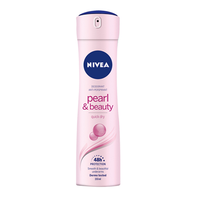 NIVEA DEO SPRAY ML.150 PEARL &BEAUTY