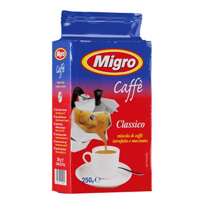 MIGRO CAFFE GR.250 MACINATO PACCO BLU