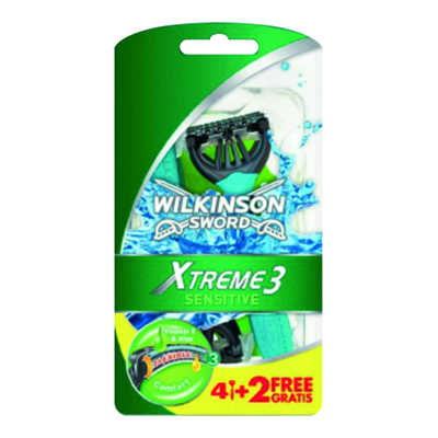 WILKINSON XTREME3 COMFORT PLUSSENSITIVE 4+2
