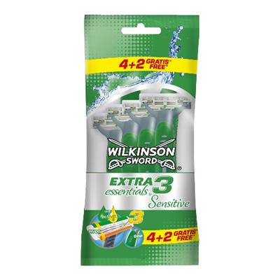 WILKINSON EXTRA3 ESSENTIALS SENSITIVE 4+2