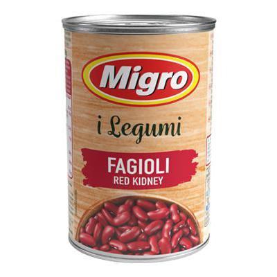 MIGRO FAGIOLI RED KIDNEY GR.400 LATTA