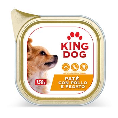 KING DOG PATE'POLLO/FEGATO GR.150 VASCHETTA