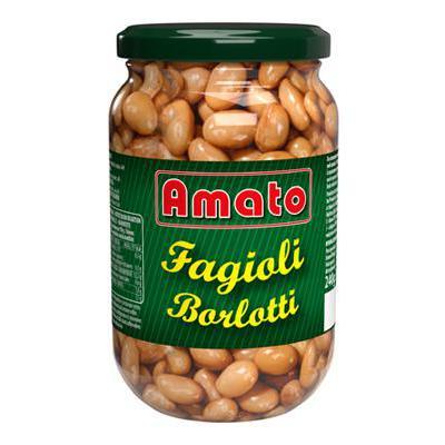 AMATO FAGIOLI BORLOTTI VASO VETRO GR.360