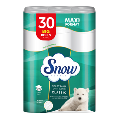 SNOW CARTA IGIENICA 3 VELI X30ROTOLI KG.2.25