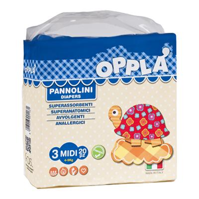 OPPLA' PANNOLINI MIDI TG.3 PZ.20