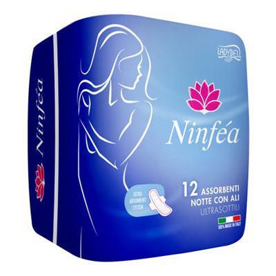 NINFEA ASSORBENTI NOTTE CON ALI X 12 ULTRA SOTTILI