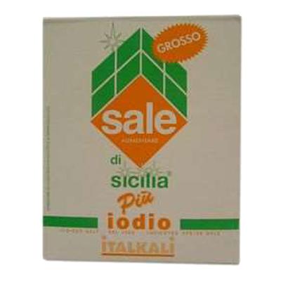 SALE DI SICILIA+IODIO GROSSO KG.1