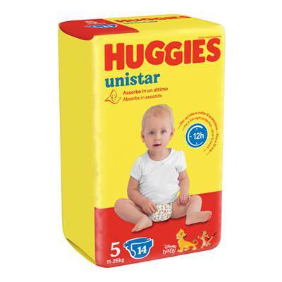 HUGGIES UNISTAR JUNIOR TG.5 16PZ KG.11-25