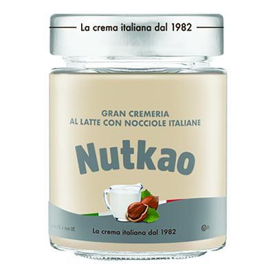 NUTKAO VASO CREMA LATTE E NOCCIOLE GR.350