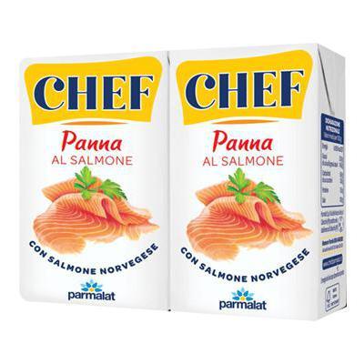 PARMALAT PANNA CHEF ML125X2 SALMONE