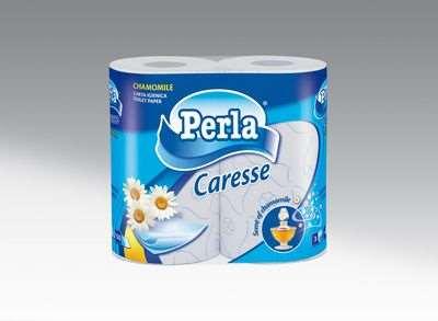 PERLA CARTA IGIENICA CARESSE X4 ROTOLI CAMOMILLA