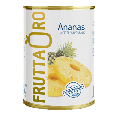 FRUTTA ORO ANANAS NATURALE ML.580 LATTA EASY OPEN