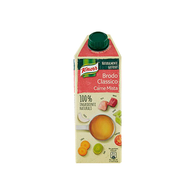 KNORR 100% BRODO ML.750 CARNEMISTA INGREDIENTI NATURALI