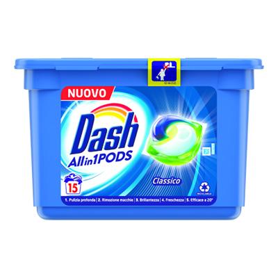 DASH REGOLARE TUTTO IN1 X 15 PODS