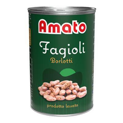 AMATO FAGIOLI BORLOTTI GR.400LATTINA A