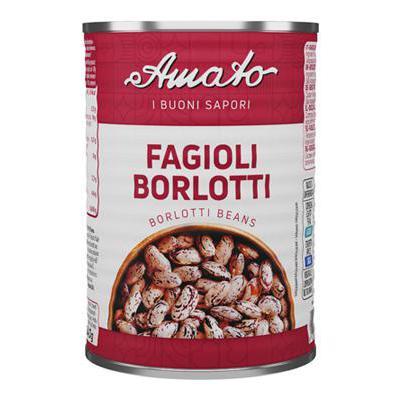 AMATO FAGIOLI BORLOTTI GR.400LATTA               ETICHETTA