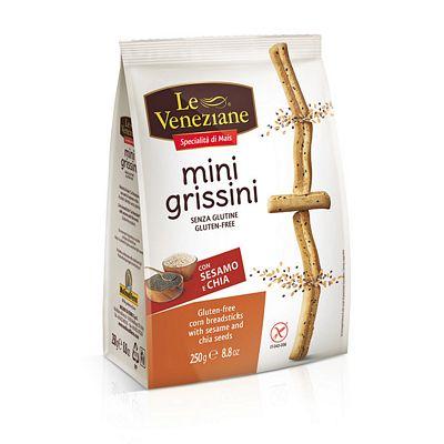 LE VENEZIANE MINI GRISSINI SENZA GLUTINE GR.250   SESAMO/CHI
