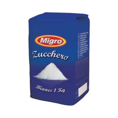 MIGRO ZUCCHERO BIANCO KG.1
