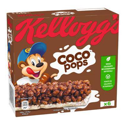 KELLOGG'S BARRETTE COCO POPS GR.20X6