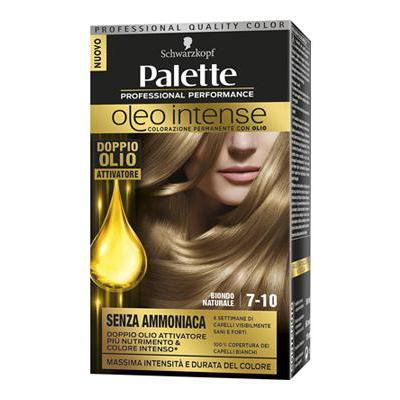PALETTE OLEO 7-10 BIONDO NATURALE SENZA AMMONIACA