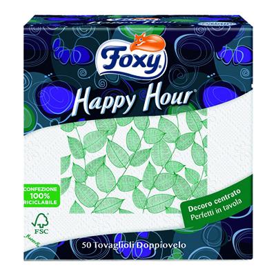 FOXY HAPPY HOUR TOVAGL.33X2 VELI 50 PZ.DECORATO   COD.331/18
