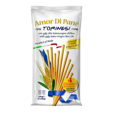 AMOR DI PANE GRISSINI TORINESIGR80X4