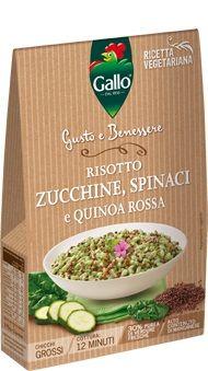 GALLO RISOTTO ZUCCHINE/SPINACI/QUINOA ROSSA GR.175 GUSTO & B