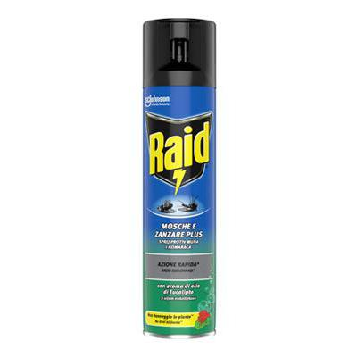 RAID MOSCHE E ZANZARE EUCALIPTO SPRAY ML.400