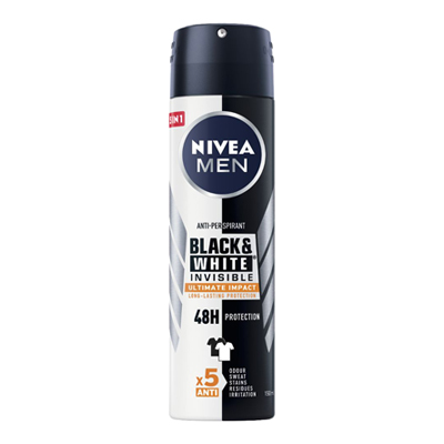 NIVEA DEO SPRAY FOR MEN BLACK&WHITE ML.150 ULTIMATE IMPACT