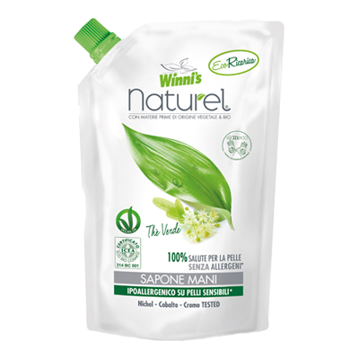 WINNI'S NATUREL SAPONE LIQUIDOMANI ECORICARICA   ML.500